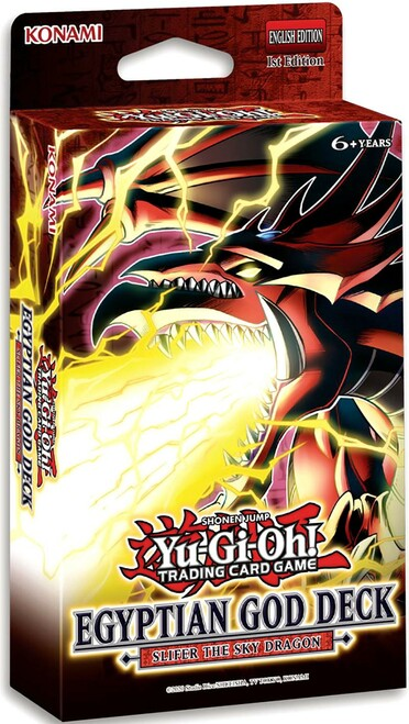 YuGiOh Trading Card Game Slifer the Sky Dragon Egyptian God Deck (Pre-Order ships June)