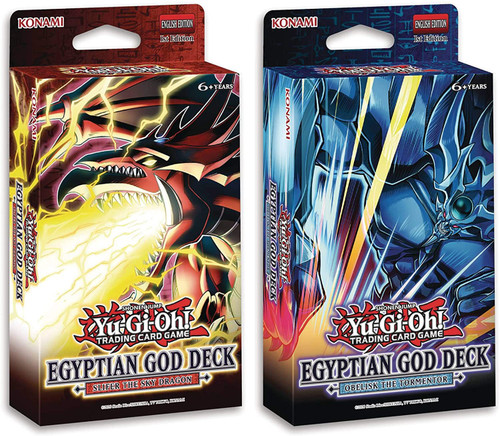 YuGiOh Trading Card Game Slifer the Sky Dragon & Obelisk the Tormentor Set of 2 Egyptian God Decks (Pre-Order ships June)