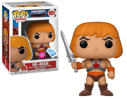 Funko Masters of the Universe POP! Animation He-Man Exclusive Vinyl Figure #991 [Flocked]