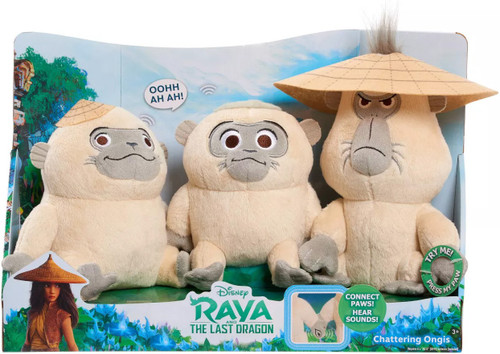 Disney Raya and the Last Dragon Chattering Ongis Plush 3-Pack [with Sound]