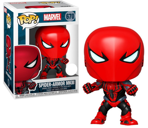 Funko Spider-Man POP! Marvel Spider-Armor MkIII Exclusive Vinyl Bobble Head #670