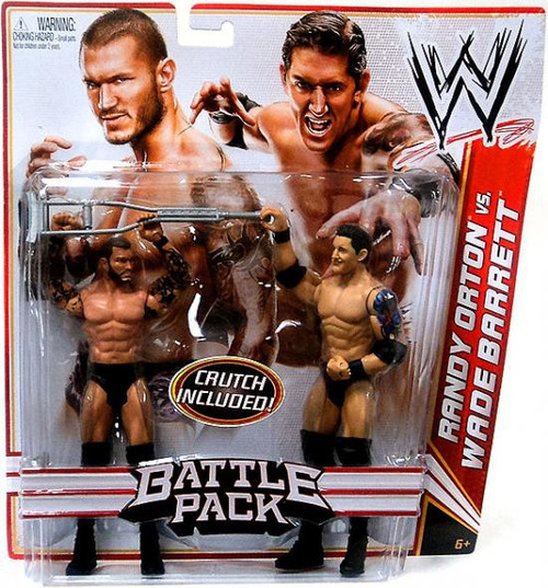 WWE Wrestling Battle Pack Series 18 Randy Orton vs. Wade Barrett Action Figure 2-Pack [Crutch, Damaged Package]