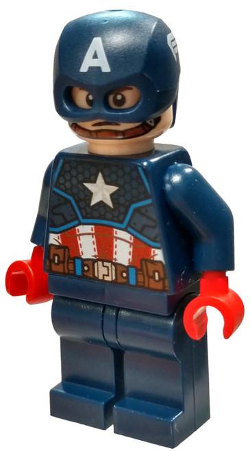 LEGO Marvel Super Heroes Avengers Captain America [Dark Blue Suit, Helmet Loose]