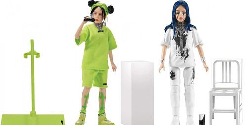 Billie Eilish When the Party is Over & Live - Los Angeles, CA. Set of Doll & Action Figure