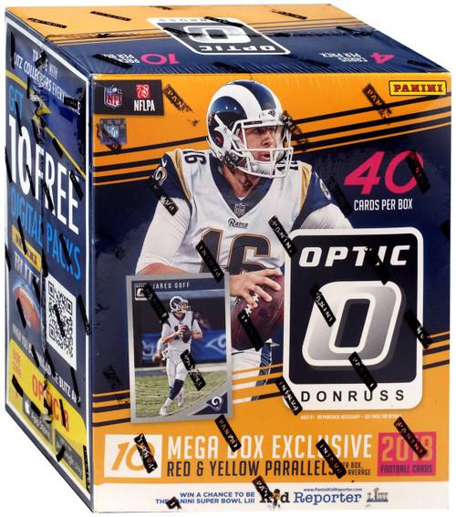 NFL Panini 2018 Donruss Optic Football Trading Card MEGA Box [10 Packs]