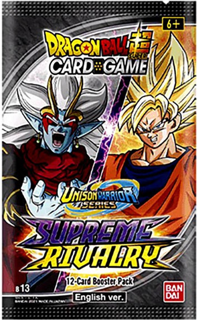 Dragon Ball Super Trading Card Game Unison Warrior Series 4 Supreme Rivalry Booster Pack DBS-B13 [12 Cards] (Pre-Order ships May)