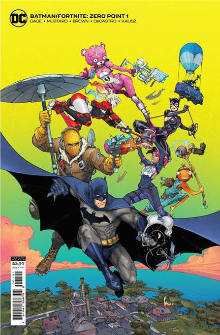 DC Comics Batman / Fortnite Zero Point #1 Card Stock Variant Cover (Kenneth Rocafort) Comic Book [Comes with Online Game Digital Item Code to Unlock Rebirth Harley Quinn Outfit!]