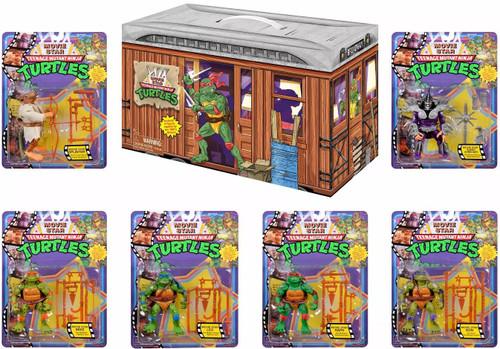 Teenage Mutant Ninja Turtles 1990 Movie Star Leonardo, Donatello, Michelangelo, Raphael, Splinter & Super Shredder Exclusive Action Figure 6-Pack BUNDLE Set [Limited Edition]