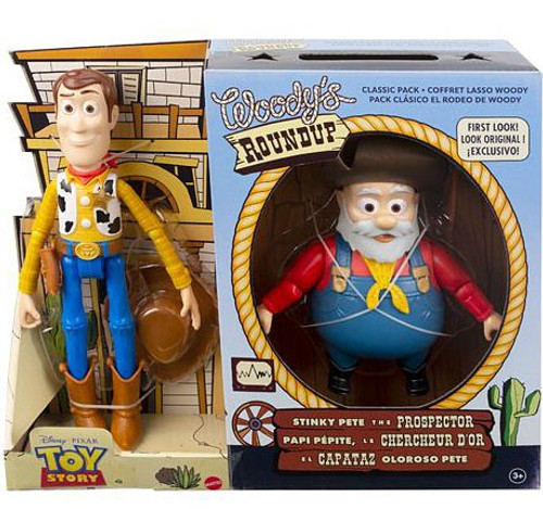 Disney / Pixar Toy Story 2 Woody's Roundup Woody & Stinky Pete the Prospector Action Figure 2-Pack (Pre-Order ships October)