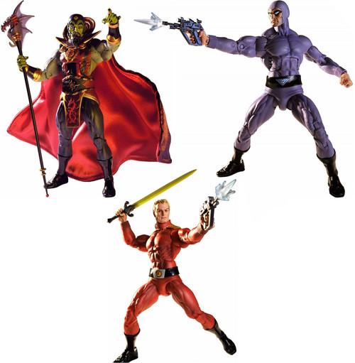 NECA Defenders of the Earth Ming, The Phantom & Flash Gordon Set of 3 Action Figures