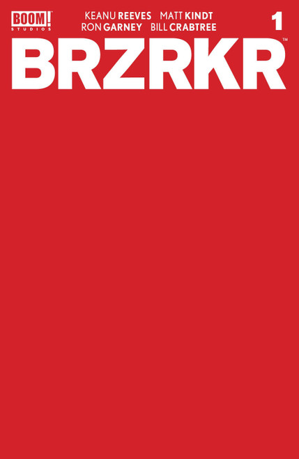 Boom! Studios Brzrkr #1 Comic Book [Cover F Red Blank 1:10 Variant]