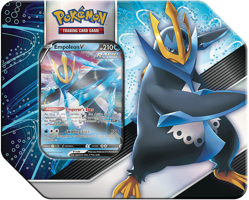 Pokemon Trading Card Game V Strikers Empoleon V Tin Set [5 Booster Packs & Promo Card] (Pre-Order ships May)