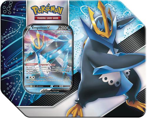 Pokemon Trading Card Game V Strikers Empoleon V Tin Set [5 Booster Packs & Promo Card]