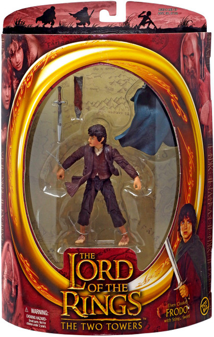 The Lord of the Rings The Two Towers Elven Cloaked Frodo Baggins Action Figure [with Sting Sword]