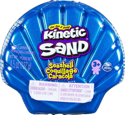 Kinetic Sand Seashell BLUE 4.5 Ounce Pack