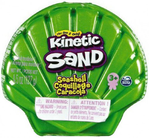 Kinetic Sand Seashell GREEN 4.5 Ounce Pack