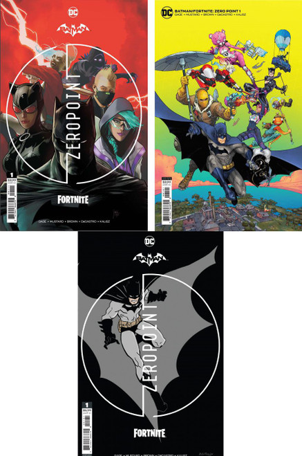 DC Comics Batman / Fortnite Zero Point #1 Main Cover & 2 Variants Set of 3 Comic Books