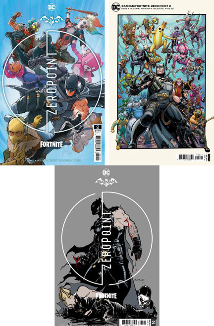 DC Comics Batman / Fortnite Zero Point #2 Main Cover & 2 Variants Set of 3 Comic Books (Pre-Order ships May)