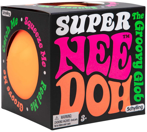 NeeDoh The Groovy Glob Super ORANGE 4.5-Inch Large Stress Ball (Pre-Order ships January)