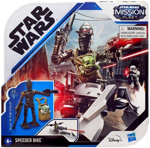 Star Wars Mission Fleet IG-11 & The Child with Speeder Bike Vehicle & Action Figure