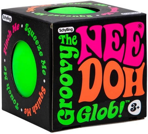 NeeDoh The Groovy Glob GREEN 2.5-Inch Small Stress Ball