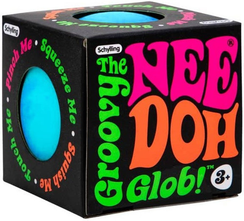 NeeDoh The Groovy Glob BLUE 2.5-Inch Small Stress Ball
