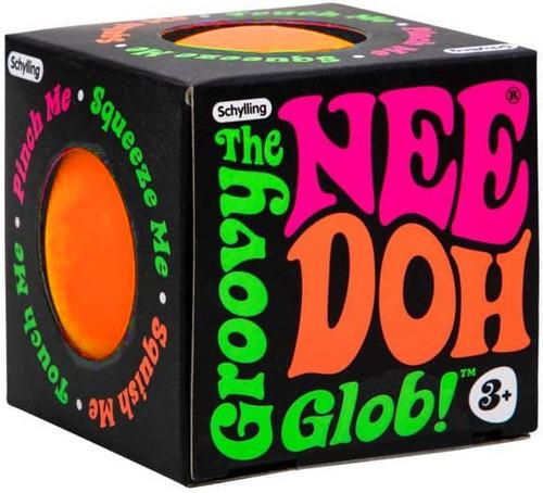 NeeDoh The Groovy Glob ORANGE 2.5-Inch Small Stress Ball
