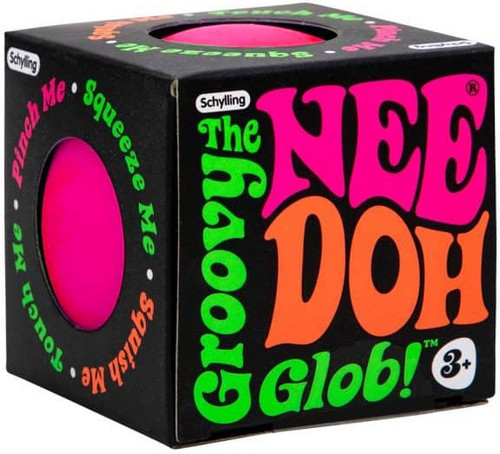 NeeDoh The Groovy Glob PINK 2.5-Inch Small Stress Ball