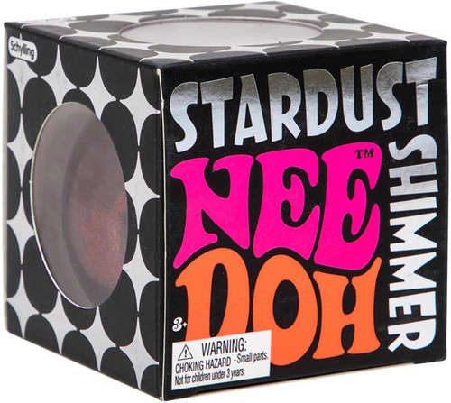 NeeDoh The Groovy Glob Stardust RED 2.5-Inch Small Stress Ball