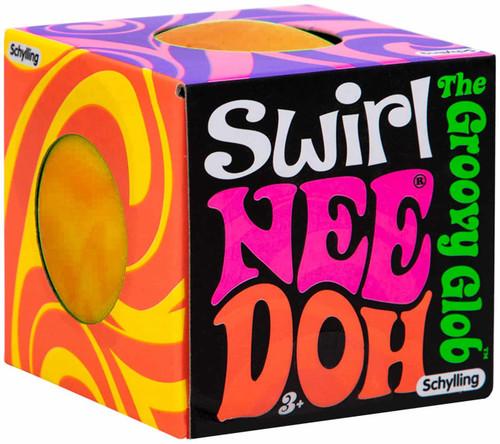 NeeDoh The Groovy Glob Swirl ORANGE 2.5-Inch Small Stress Ball