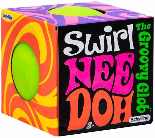 NeeDoh The Groovy Glob Swirl GREEN 2.5-Inch Small Stress Ball