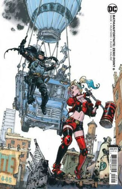 DC Comics Batman / Fortnite Zero Point #6 Card Stock Variant (Kim Jung Gi) Comic Book [Comes with DC Themed Digital Item Code for Fortnite Game!] (Pre-Order ships July)