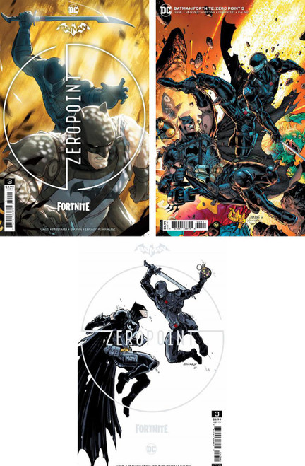 DC Comics Batman / Fortnite Zero Point #3 Main Cover & 2 Variants Set of 3 Comic Books (Pre-Order ships May)