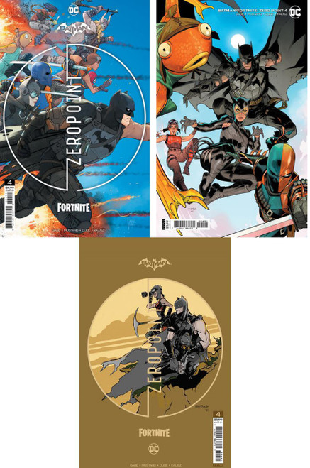 DC Comics Batman / Fortnite Zero Point #4 Main Cover & 2 Variants Set of 3 Comic Books (Pre-Order ships June)