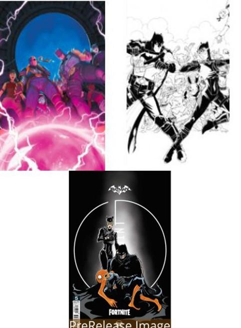 DC Comics Batman / Fortnite Zero Point #5 Main Cover & 2 Variants Set of 3 Comic Books (Pre-Order ships June)
