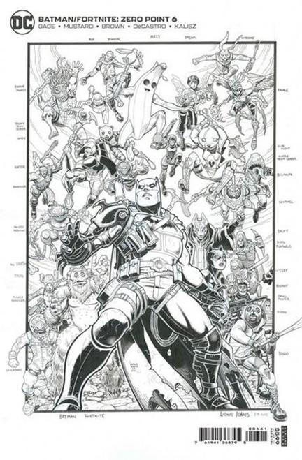 DC Comics Batman / Fortnite Zero Point #6 COMPILATION Premium Variant Cover Comic Book [Arthur Adams]