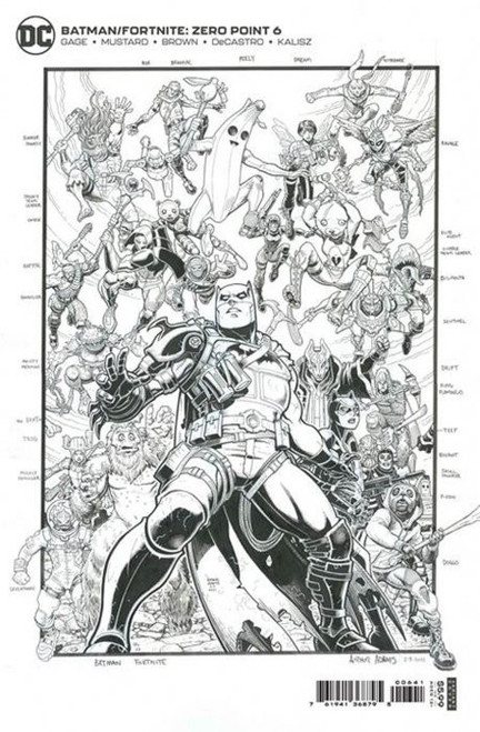 DC Comics Batman / Fortnite Zero Point #6 COMPILATION Premium Variant Cover Comic Book (Pre-Order ships July)