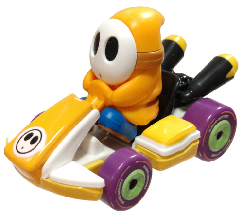 Hot Wheels Mario Kart Yellow Shy Guy Diecast Car [Standard Kart Loose]