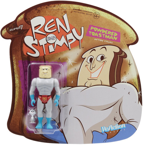 ReAction Ren & Stimpy Powdered Toast Man Action Figure (Pre-Order ships May)