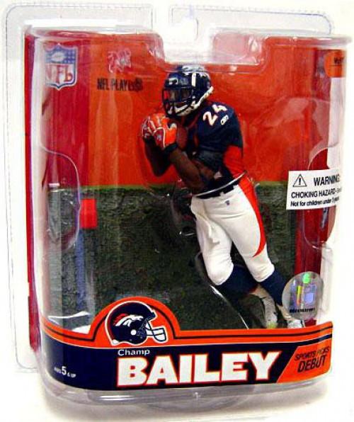 McFarlane Toys NFL Denver Broncos Sports Picks Series 16 Champ Bailey Action Figure [Damaged Package, Mint Figures]