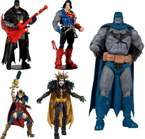 McFarlane Toys DC Multiverse Build Dark Father Series Batman, Superman, Wonder Woman & Robin King Set of 4 Action Figures [Death Metal] (Pre-Order ships July)