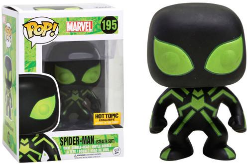 Funko POP! Marvel Spider-Man Stealth Suit Vinyl Bobble Head #195 [Damaged Package]