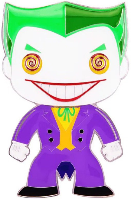 Funko DC Classic POP! Pins The Joker 4-Inch Large Enamel Pin