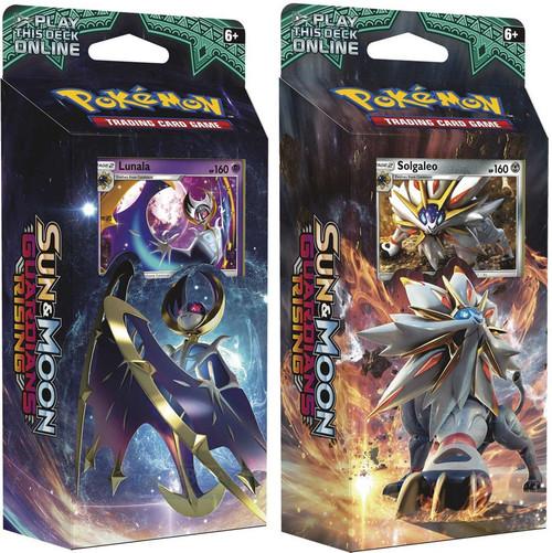 Pokemon Trading Card Game Sun & Moon Guardians Rising Hidden Moon & Steel Sun Set of Both Theme Decks [Lunala & Solgaleo]
