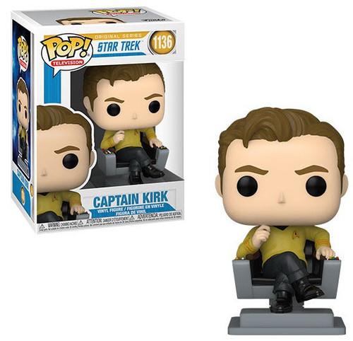 Funko Star Trek POP! TV Captain Kirk Vinyl Figure #1136 [in Chair] (Pre-Order ships January)