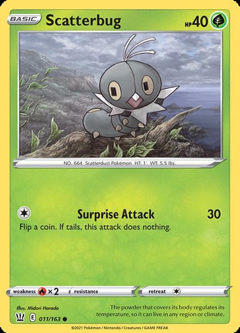 Pokemon Sword & Shield Battle Styles Common Scatterbug #11