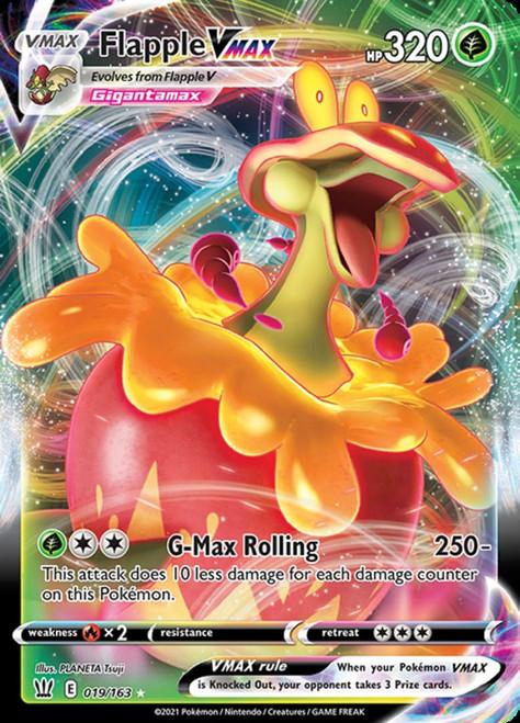 Pokemon Sword & Shield Battle Styles Ultra Rare Flapple VMAX #19