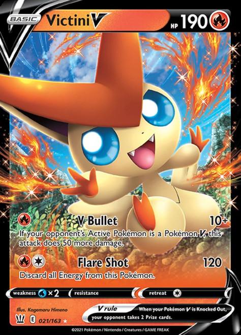 Pokemon Sword & Shield Battle Styles Ultra Rare Victini V #21