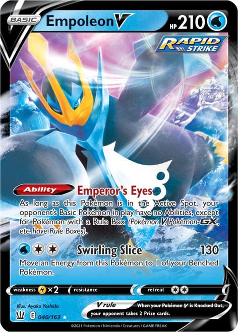 Pokemon Sword & Shield Battle Styles Ultra Rare Empoleon V #40