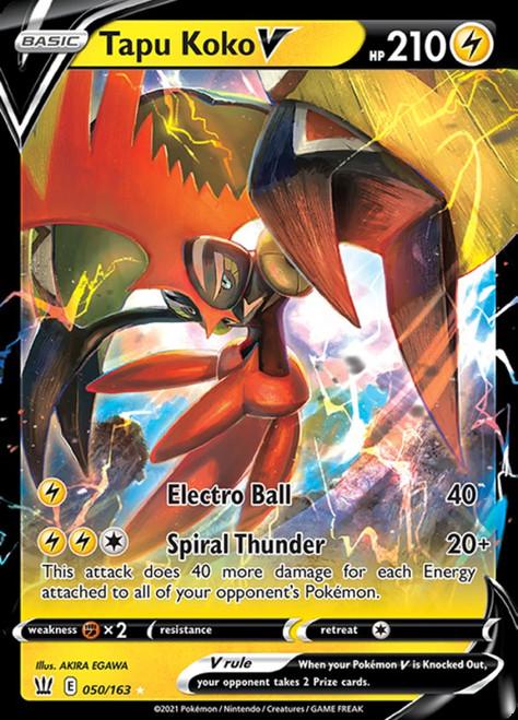 Pokemon Sword & Shield Battle Styles Ultra Rare Tapu Koko V #50